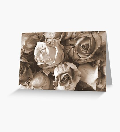 Old and crumpled Greeting Card