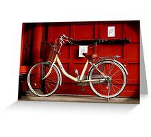 自転車 Greeting Card