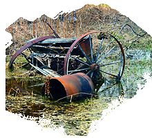 Rusty old farm equipment by Kelly  McAleer