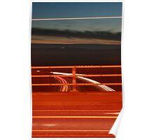 Car Lights A27 - Orange Poster