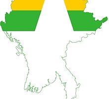 Flag Map of Myanmar  by abbeyz71