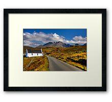The Cuillin Mountains from Merkadale, Talisker, Isle of Skye, Scotland Framed Print