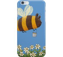 Bumble Bear with honey flies home iPhone Case/Skin