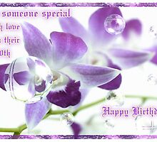 60th Birthday Card...Mauve Orchid by judygal