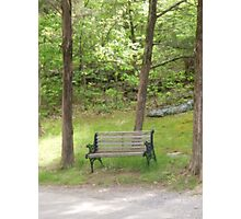 Quiet Time Bench Photographic Print