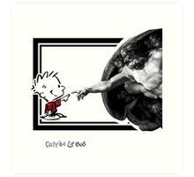 Calvin & God Art Print