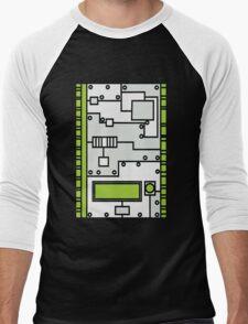 Metal Lab - Ghost Gear Green v2.1 - Danny Phantom Men's Baseball ¾ T-Shirt