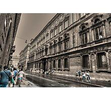 via del corso .. Roma Photographic Print