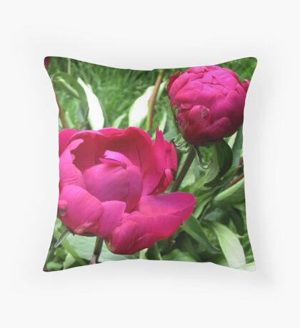 Two times a Peony Throw Pillow