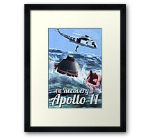 Apollo 11 Recovery  Framed Print