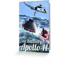 Apollo 11 Recovery  Greeting Card
