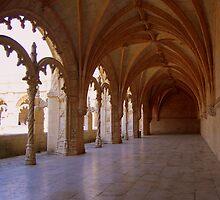 Mosteiro dos Jerónimos, Courtyard hallway by Wayne Cook