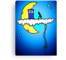 Doctor Who in the clouds Canvas Print