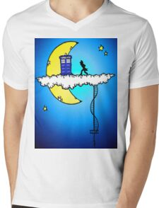 Doctor Who in the clouds Mens V-Neck T-Shirt