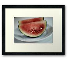 Sliced Melon Framed Print