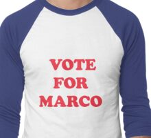 Vote for Marco Rubio Men's Baseball ¾ T-Shirt
