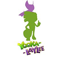 Yooka-Laylee Colored Silhouette  Photographic Print
