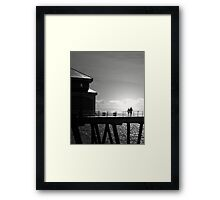 Silhouettes in Motion Framed Print
