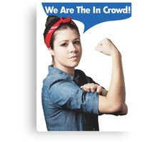 We Are the In Crowd Canvas Print