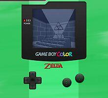 Gameboy Color Zelda Triforce Logo by SecondArt