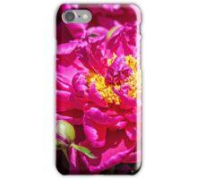 Hot pink Peonies iPhone Case/Skin