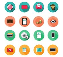 Set of various flat Icons by Anviczo