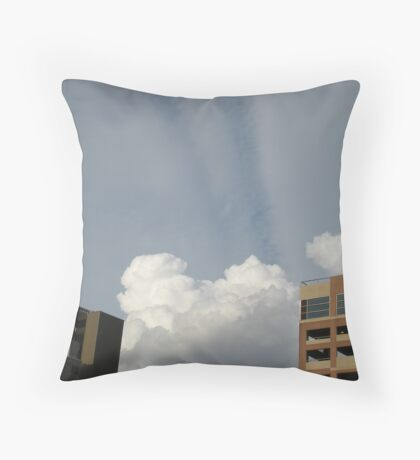Clouds & Rays Throw Pillow