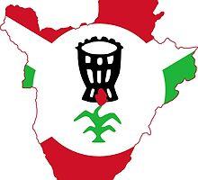 Flag Map of Burundi, 1962-1966 Flag  by abbeyz71