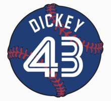 R.A. Dickey Baseball Design Kids Clothes
