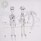 Drawing Day - The Greys on Vacation by Tama Blough