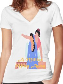 A Million Miles Away Women's Fitted V-Neck T-Shirt