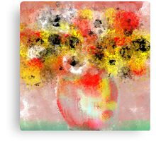 Flowers in Yellow, Red, and White Canvas Print