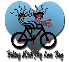 Biking With My Love Bug  Photographic Print