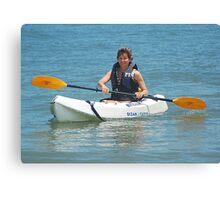 Surf kayaking Canvas Print