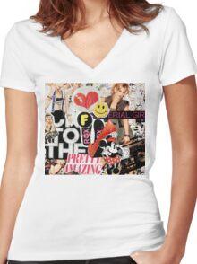 Material Girl Women's Fitted V-Neck T-Shirt