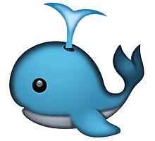 Whale Emoji by Vintagee