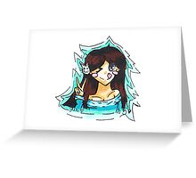 Adorable peace sign person Greeting Card