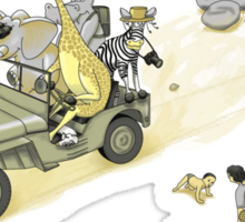 Animals On Safari Sticker