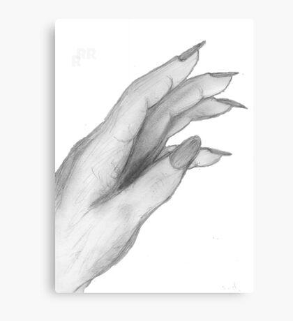 Hand,Pencil drawing, Canvas Print