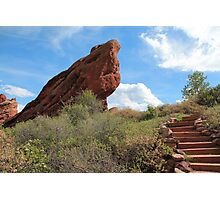 Red Rock Standing Photographic Print
