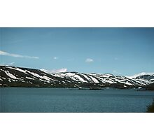 Lake on mountain between Bergen and Oslo Norway198406140015  Photographic Print