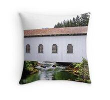 Dorena Covered Bridge  Throw Pillow
