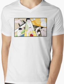 Ping Pong The Animation Print Mens V-Neck T-Shirt