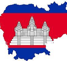 Flag Map of Cambodia  by abbeyz71