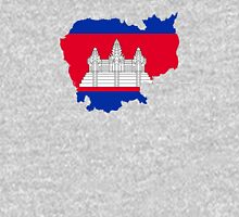 Flag Map of Cambodia  T-Shirt