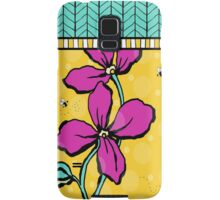 Floral Dreamweaver Pattern Pink and Yellow Samsung Galaxy Case/Skin