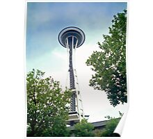 Up to the Space Needle Poster