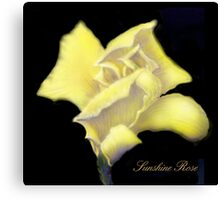 'Sunshine' Rose Digital Painting, Baroque Roses Canvas Print