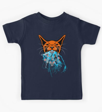 Cat Barf Mouse Heads Kids Tee