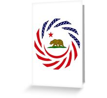 Californian Murican Patriot Flag Series Greeting Card